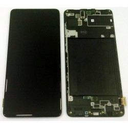 LCD Display+ Touch Unit+ Front Cover Original Samsung Galaxy A71 (Service Pack)