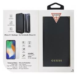 Case Book Guess IriDescent iPhone XR + Tempered glass (GUBPBKTI61IBK)