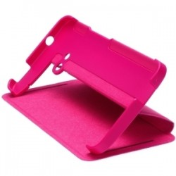 Cover rigid with flap and stand HTC ONE M7 HC V841